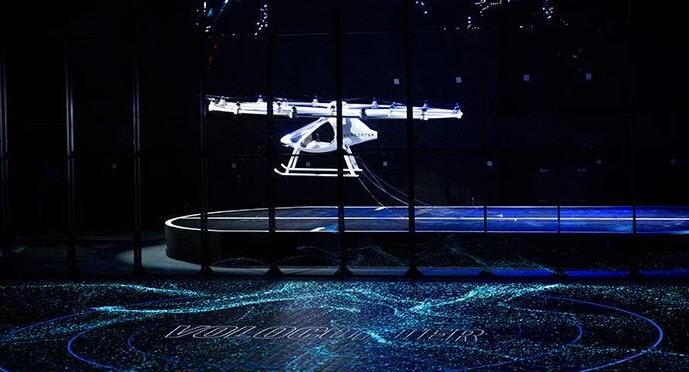 CES 2018 Intel продемонстрировала летающий автомобиль Volocopter