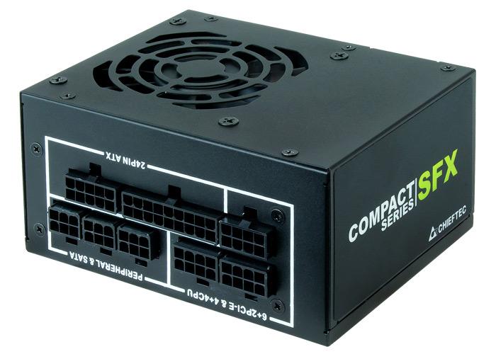 Блоки питания Chieftec Compact типоразмера SFX имеют сертификаты 80 Plus Gold