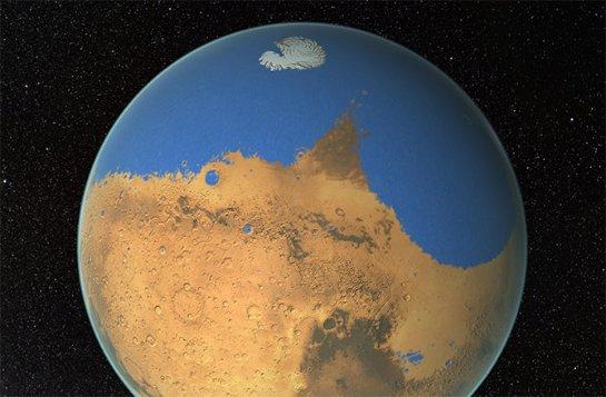 На Марсе нашли очень много льда