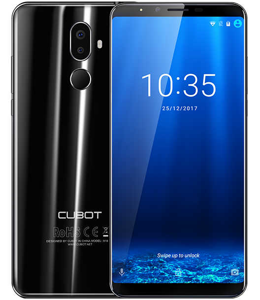 Смартфон Cubot X18 Plus получил изогнутый дисплей и Android 8.0 Oreo из коробки