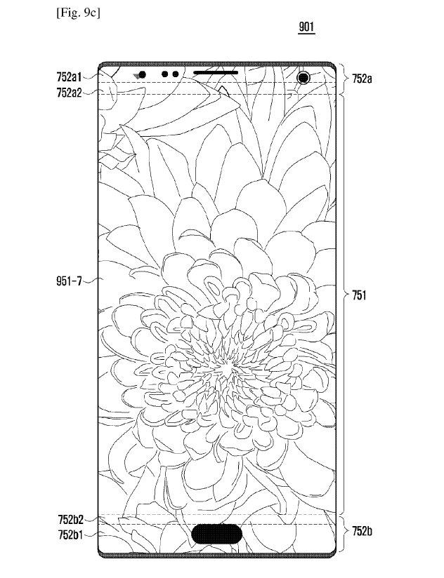 В новом патенте Samsung описан полноэкранный смартфон с вырезами в дисплее