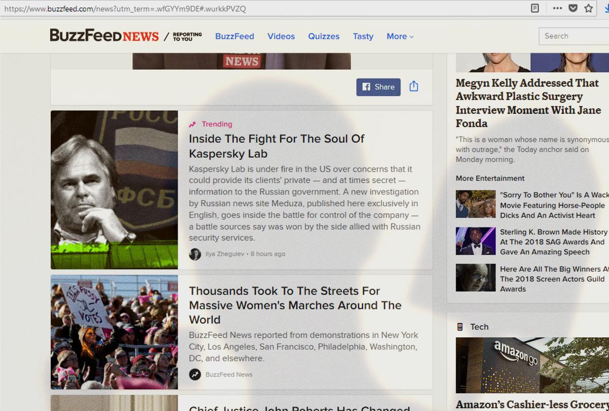 Лаборатория Касперского и ФСБ на BuzzFeed News
