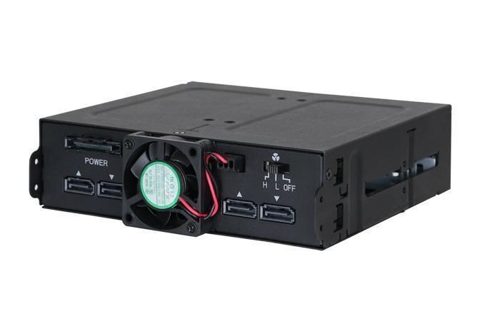 Корзина Icy Dock ToughArmor MB607SP-B поддерживает горячую замену накопителей