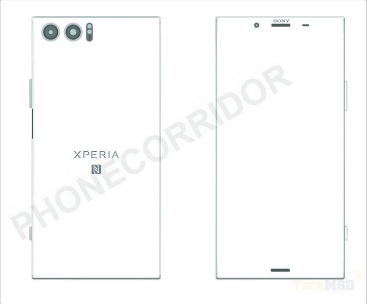 Опубликован эскиз смартфона Sony Xperia XZ Pro