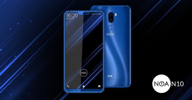 Смартфон NOA N10 повторяет дизайнерское решение, дебютировавшее в iPhone X, при этом выделяясь камерой