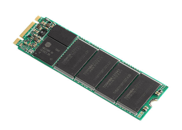 В накопителях Plextor M8V используется 64-слойная флэш-память BiCS TLC NAND производства Toshiba