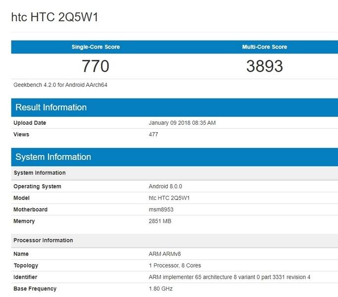 У HTC выйдет новый среднебюджетный смартфон