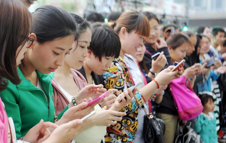 По состоянию на конец 2017 года в Китае было 1,417 млрд абонентов сотовой связи