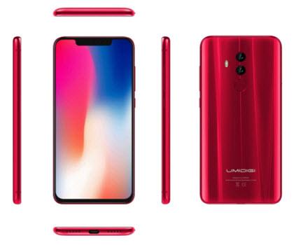 Umidigi Z2 стал первым смартфонов дисплеем диагональю 6,2 дюйма, который имеет вырез в верхней части