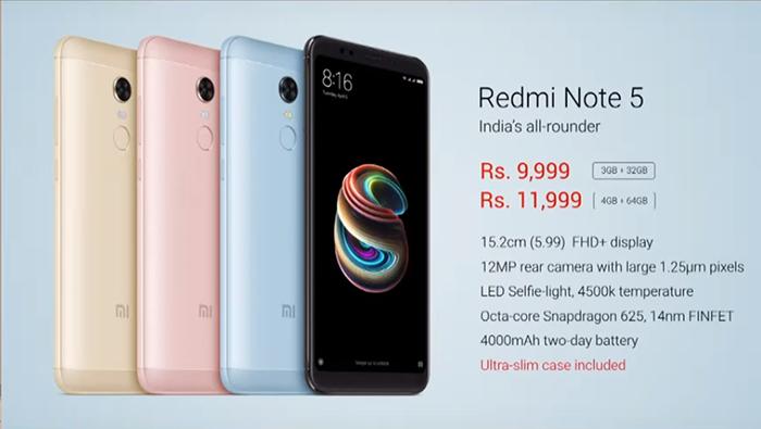 Xiaomi Redmi Note 5, стоимость
