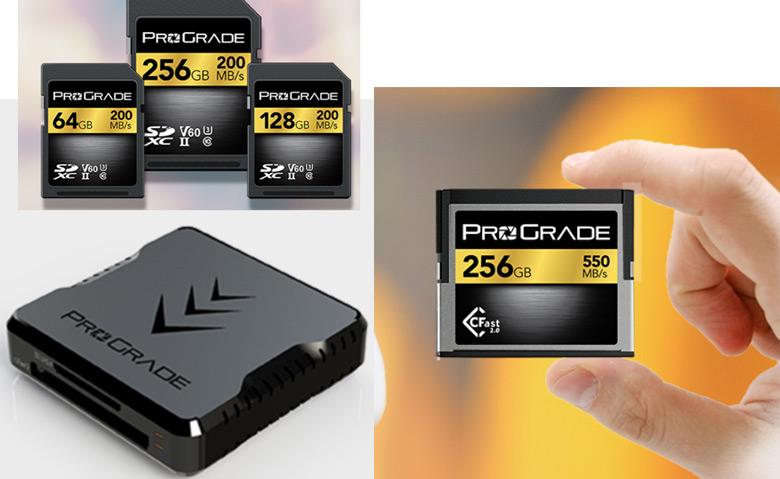 Это высокопроизводительные карты памяти и устройство для работы с ними