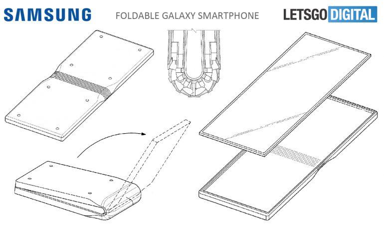 Samsung запатентовала шарнирную конструкцию для смартфона со сгибающимся дисплеем