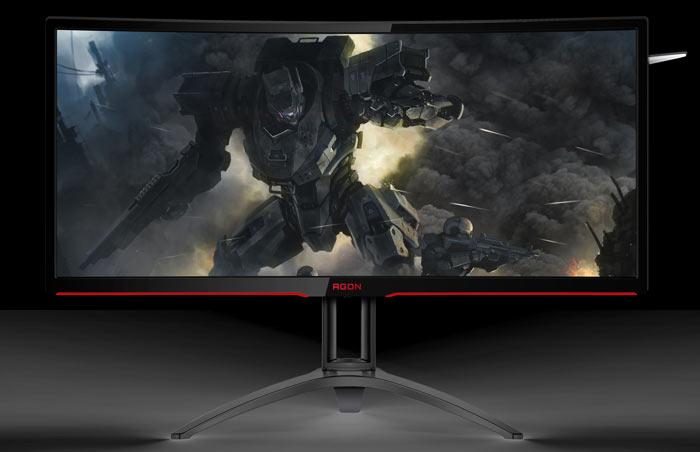 Игровой монитор AOC Agon AG352UCG6 имеет разрешение 3440 х 1440 пикселей