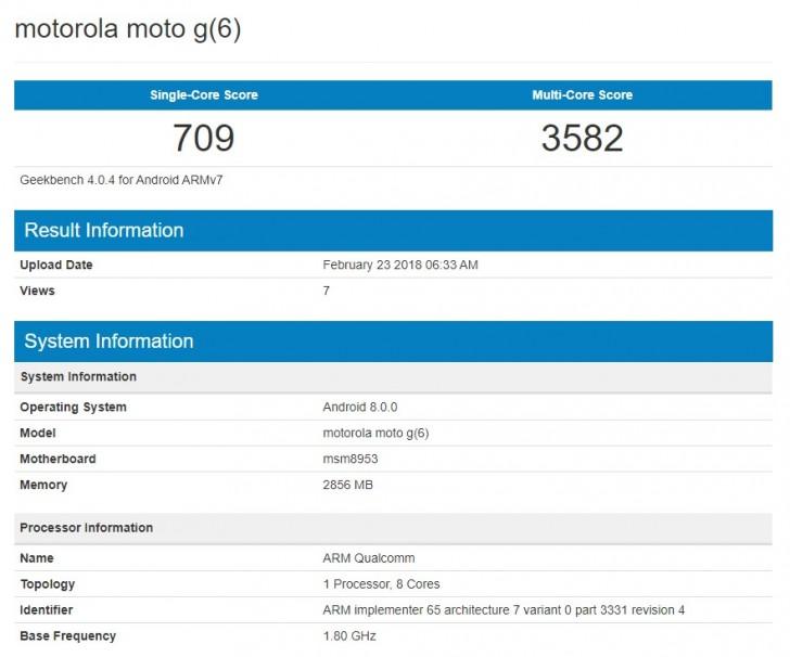 Судя по записи в базе данных Geekbench, устройство работает под управлением Android Oreo