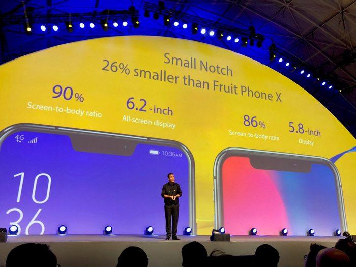 Экран смартфона Asus ZenFone 5 занимает 90% лицевой панели, а вырез на 26% меньше аналогичного у iPhone X
