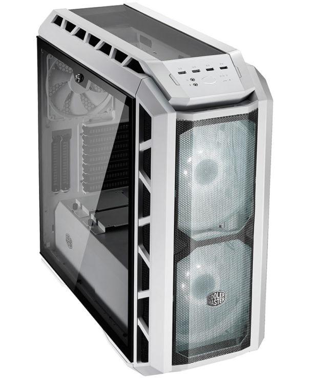За сеткой установлено два 200-миллиметровых вентилятора