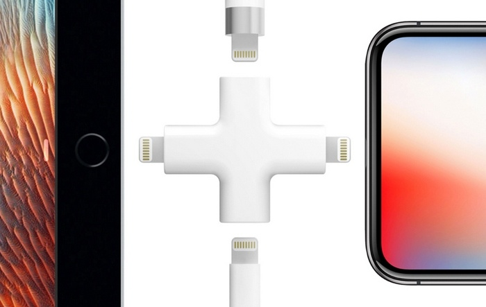 Адаптер Node позволит заряжать несколько мобильных устройств Apple при помощи всего одного кабеля