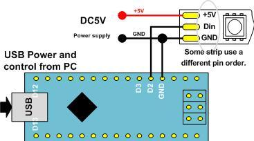 Цветомузыка для светодиодной ленты WS2812, Аrduino и ПК - 1