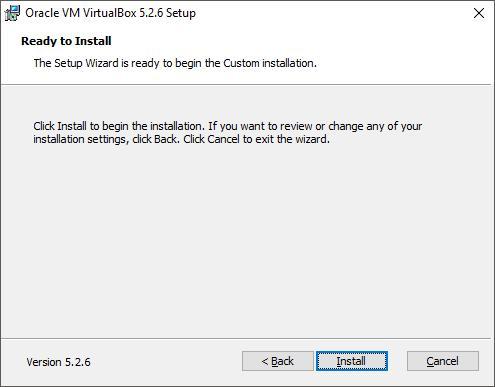 Установка VirtualBox. Шаг 5