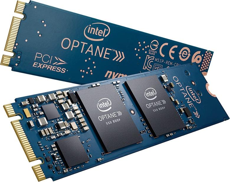 Твердотельные накопители Intel Optane SSD 800P выпускаются объемом 58 ГБ и 118 ГБ