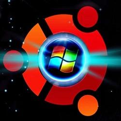 logo ubuntu and windows