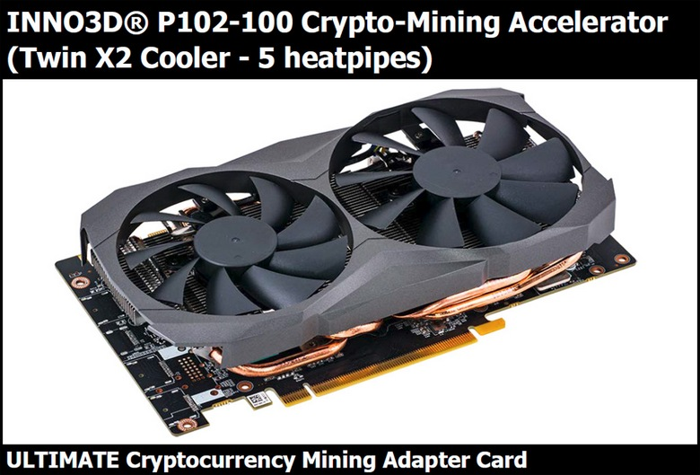 Inno3D готовит ускоритель для майнеров на GPU GP102