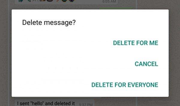 WhatsApp увеличил время для удаления сообщений до 4096 с