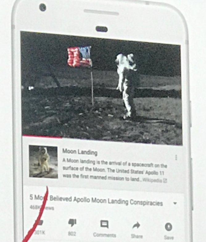 YouTube будет показывать подсказки из материалов Wikipedia в различных конспирологических видео - 1