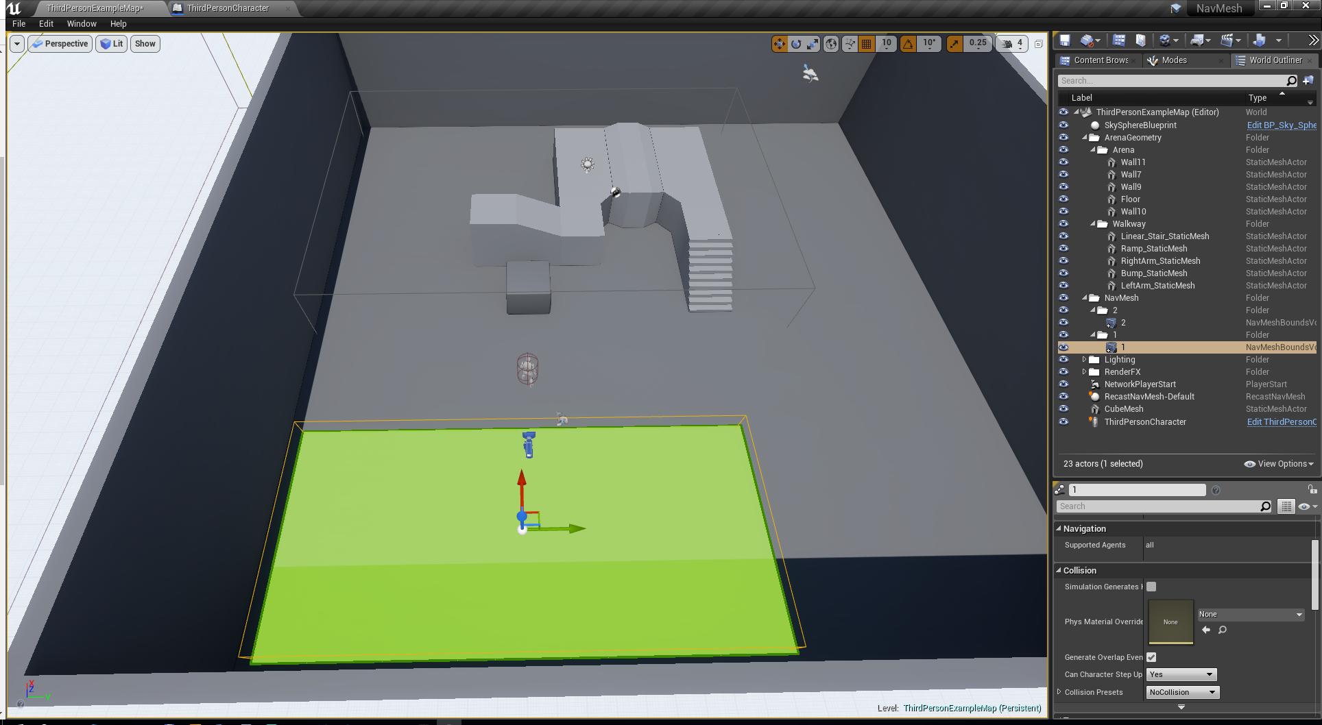 Unreal Engine 4 — как устроенна навигация в NavMeshBoundsVolume - 3