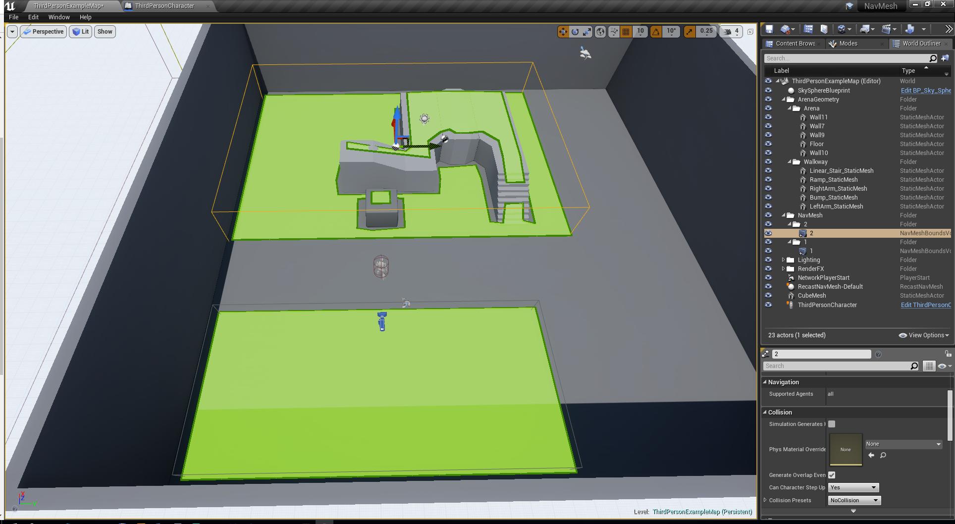 Unreal Engine 4 — как устроенна навигация в NavMeshBoundsVolume - 4