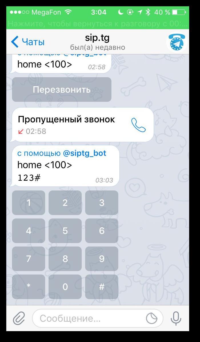 SIP <-> Telegram: sip.tg - 4