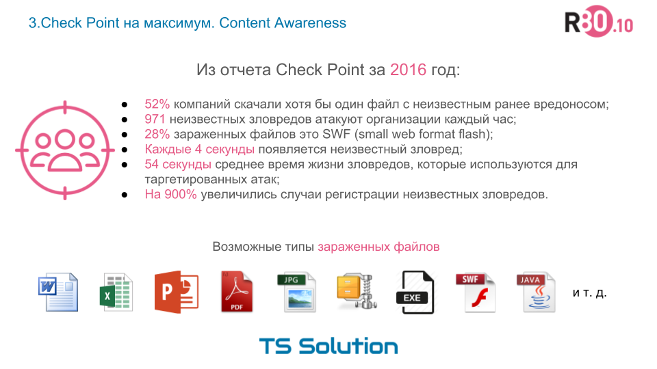 3. Check Point на максимум. Content Awareness - 2