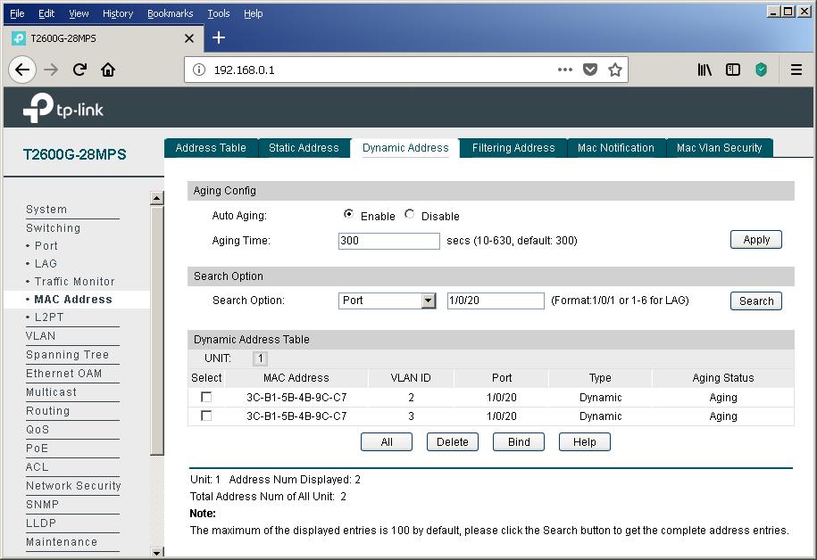 TP-Link T2600G-28MPS: работа с PoE, LLDP и Voice VLAN - 23