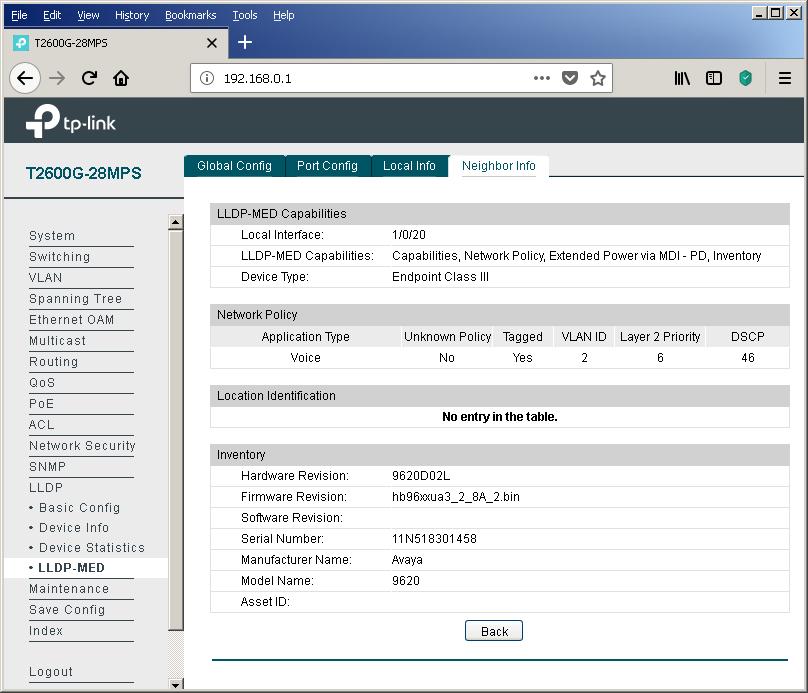 TP-Link T2600G-28MPS: работа с PoE, LLDP и Voice VLAN - 25