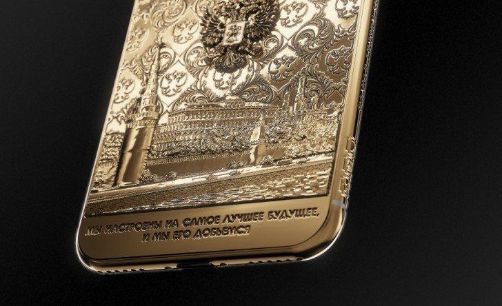 Смартфон Caviar iPhone X, выпущенный в честь победы Владимира Путина на выборах 2018, предлагается за 269 тыс. руб.