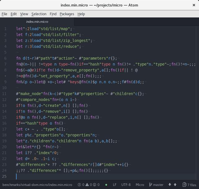 Язык программирования, рассчитанный на минификацию - 1