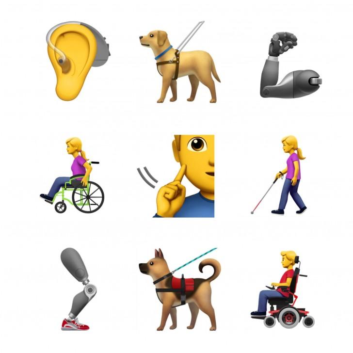 Apple готовит новые эмодзи для инвалидов