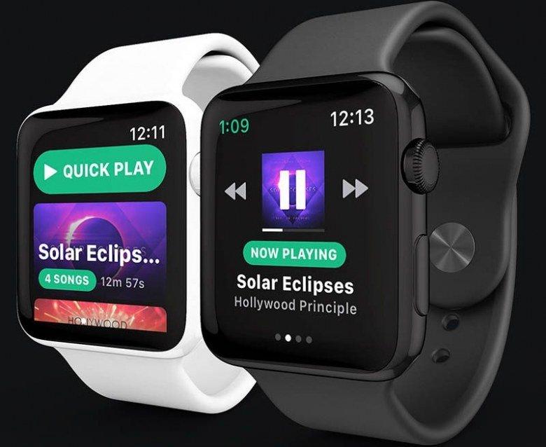 Spotify станет первым сторонним приложением для Apple Watch, поддерживающим уведомления без связи с iPhone