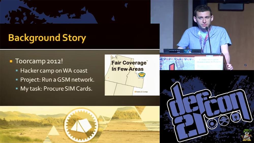 """Конференция DEFCON 21. """"Секретная жизнь SIM карт"""". Эрик Батлер, Карл Кошер - 1"""