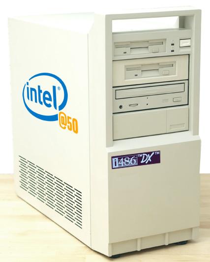 К своему 50-летию Intel выпускает коллекционные компьютеры на базе своих х86 процессоров, начиная с 286 - 1