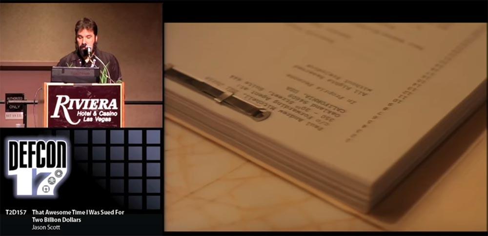 Конференция DEFCON 17. «Это восхитительное время, когда меня обвинили в ущербе на 2 миллиарда долларов». Джейсон Скотт - 11