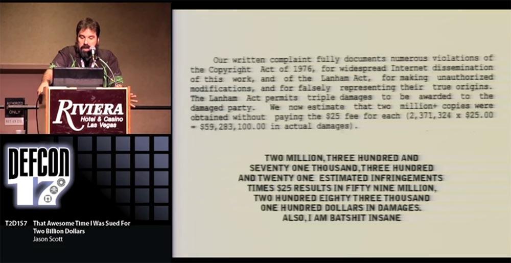 Конференция DEFCON 17. «Это восхитительное время, когда меня обвинили в ущербе на 2 миллиарда долларов». Джейсон Скотт - 7