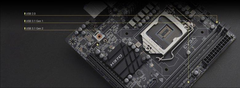 Системная плата EVGA H370 Stinger позиционируется как основа для HTPC или игрового ПК