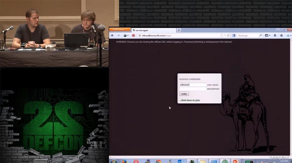 Конференция DEFCON 22. «Путешествие по тёмной стороне Интернет. Введение в Tor, Darknet и Bitcoin» - 18