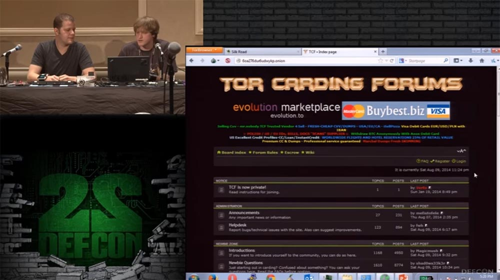 Конференция DEFCON 22. «Путешествие по тёмной стороне Интернет. Введение в Tor, Darknet и Bitcoin» - 20