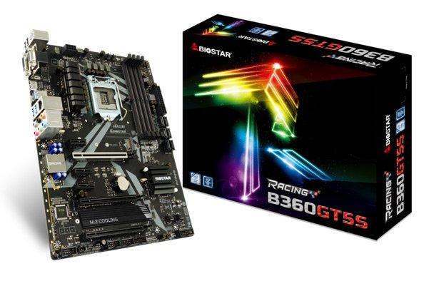 Представлены системные платы Biostar Racing B360GT5S и B360GT3S для игровых ПК