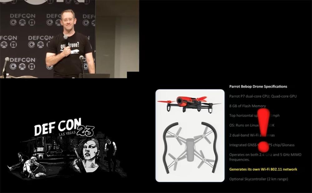 Конференция DEFCON 23. «Как я сбивал назойливый дрон соседского ребёнка». Майкл Робинсон - 11