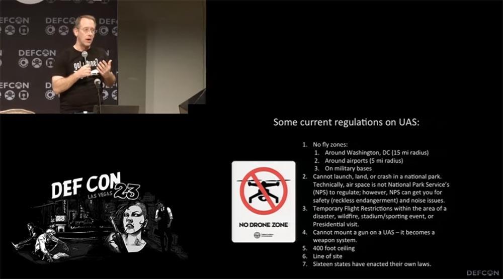 Конференция DEFCON 23. «Как я сбивал назойливый дрон соседского ребёнка». Майкл Робинсон - 7