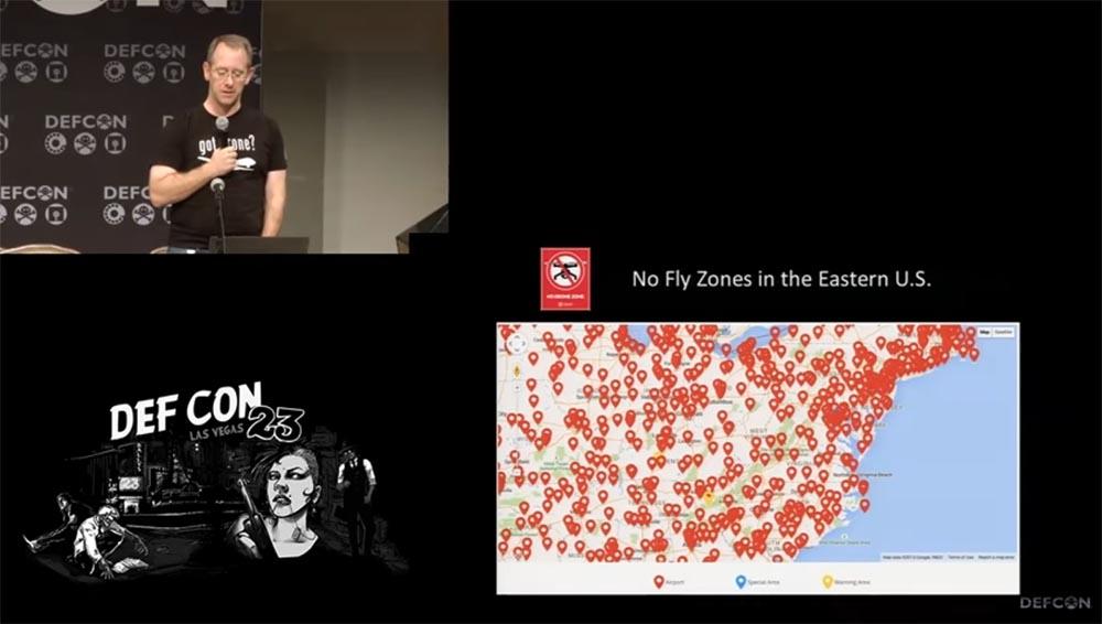 Конференция DEFCON 23. «Как я сбивал назойливый дрон соседского ребёнка». Майкл Робинсон - 8