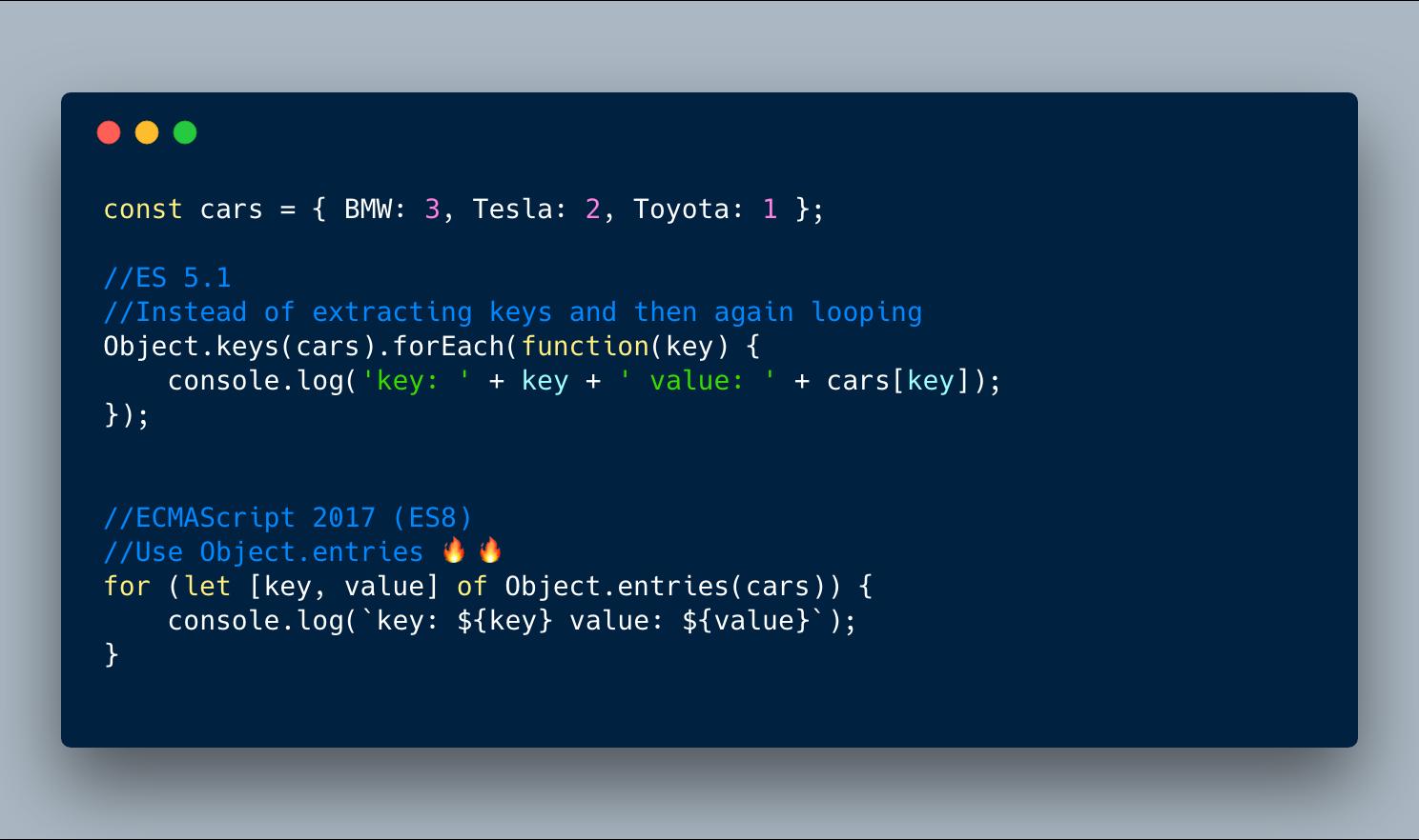Обзор новшеств ECMAScript 2016, 2017, и 2018 с примерами - 7